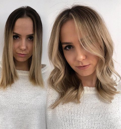 Blonde Balayage for Medium Hair