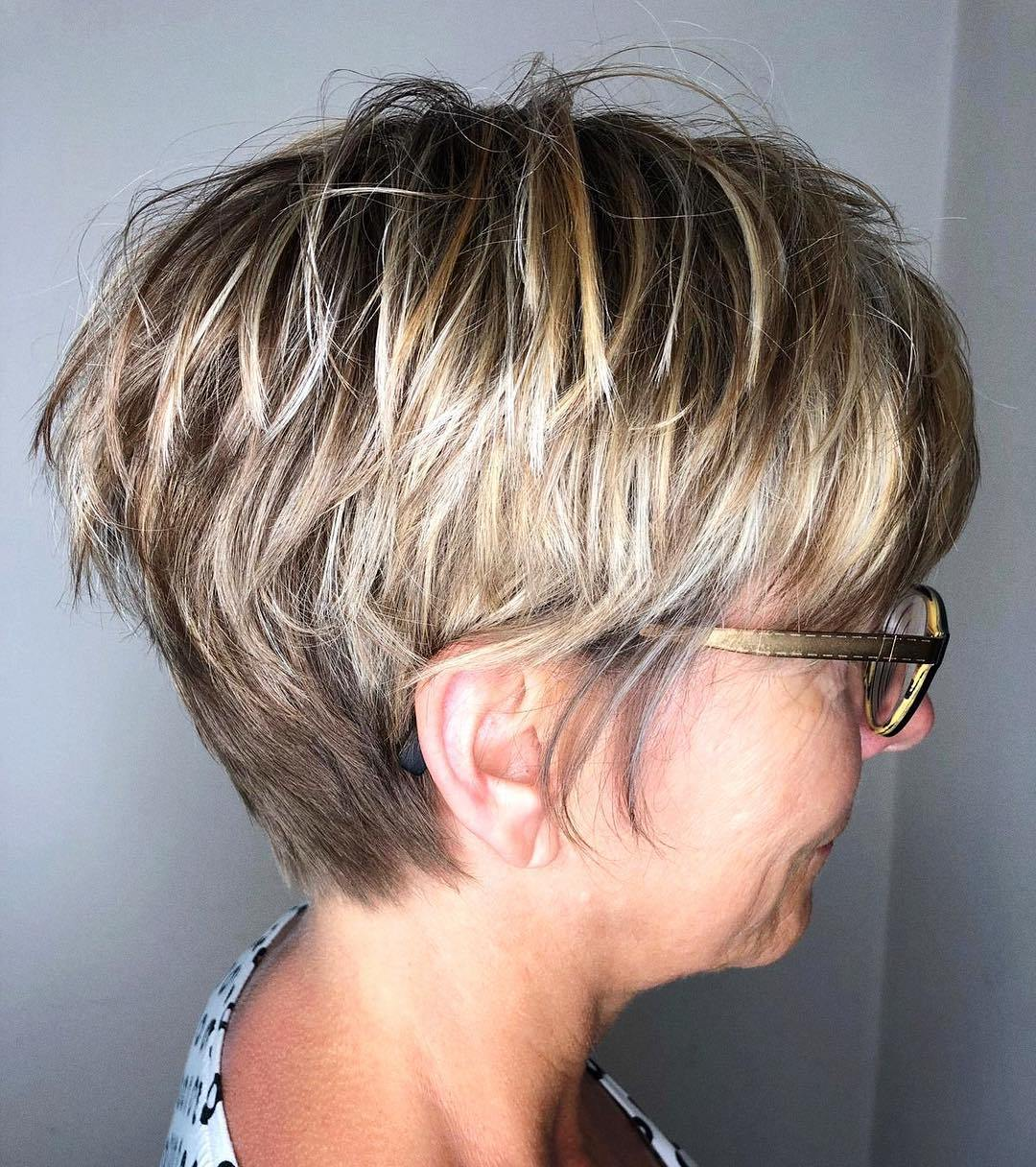 Short Pixie with Long Crown Layers