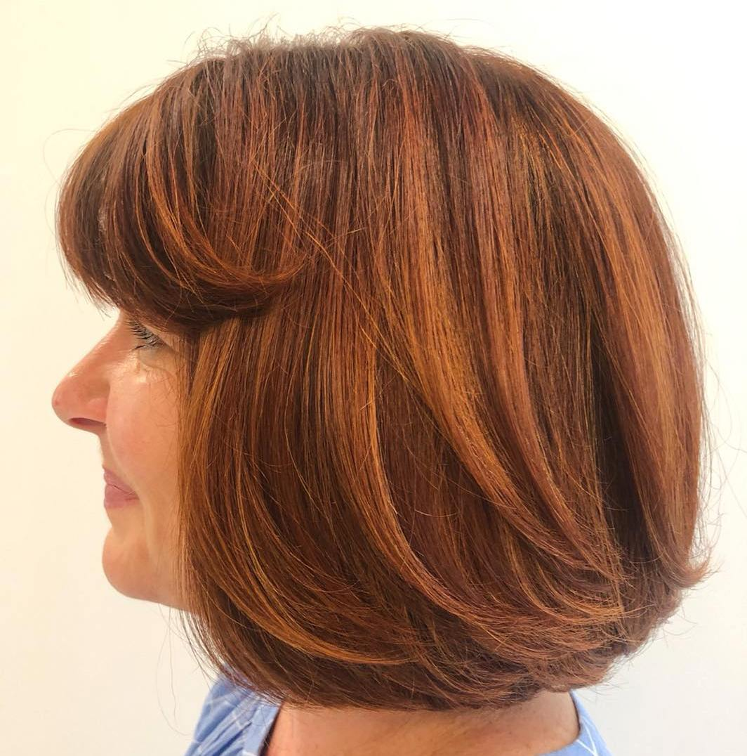 Bob with Layered Ends and Bangs