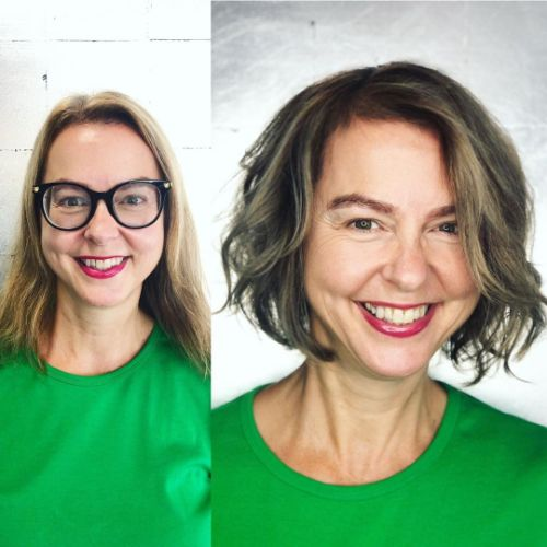 40 and Up Wavy Bob for Thin Hair