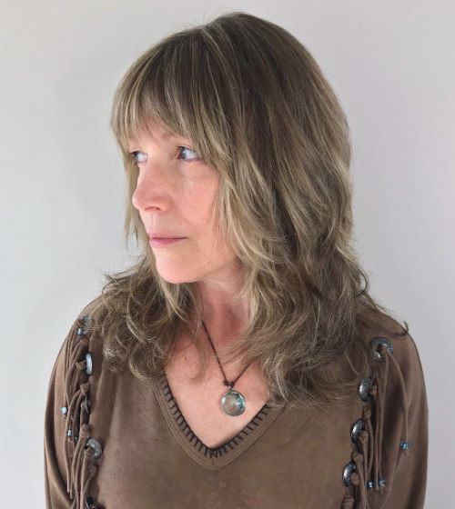Mid Length Shag with Bangs