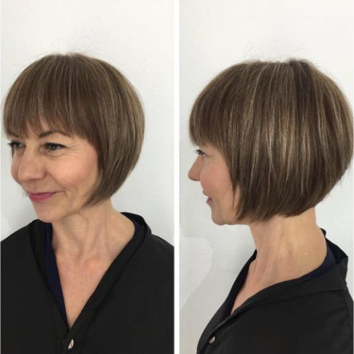 Short Straight Bob for a Round Face
