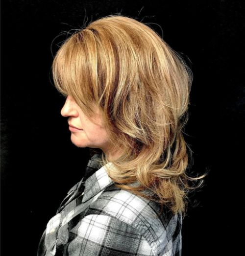 Beautiful Medium-Length Shaggy Haircut