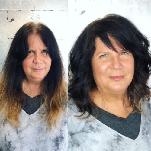 Layered Cut for Thick wavy Hair
