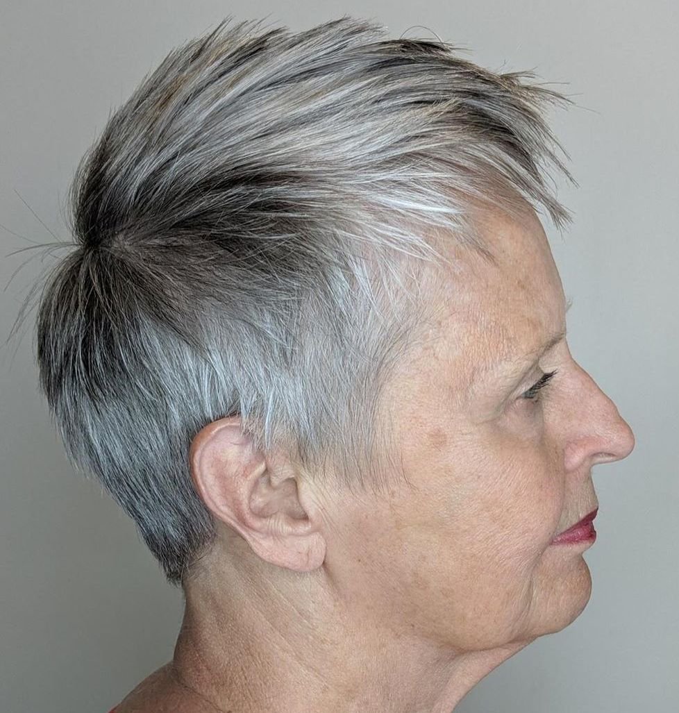 Gray Pixie with Spiked Layers