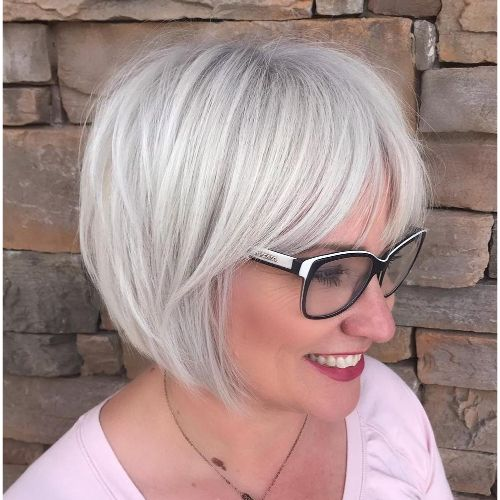 Bob Haircut for Women with Glasses