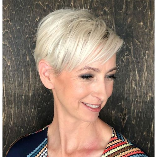 Short Blonde Hair with Layers Over 40