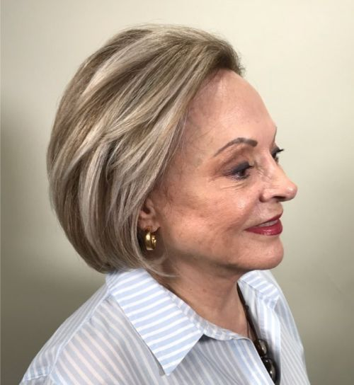 Short Bob for 60 and Plus Women