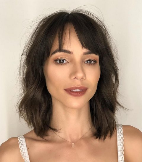 Tousled Bob with Bangs for Thin Hair