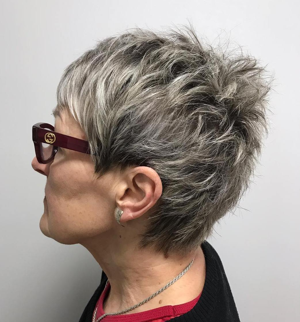 Short Spiky Pixie for Older Women