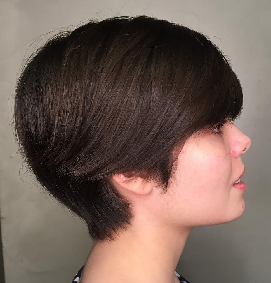 Long Pixie for Round Faces and Thick Hair