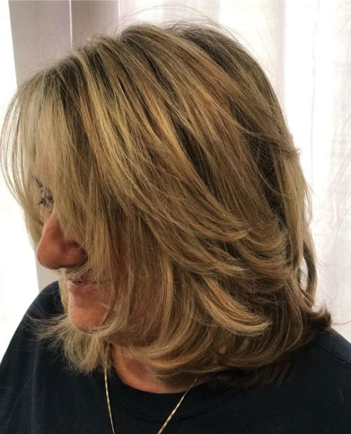 Medium Haircut with Layers for Thick Hair