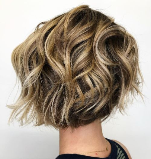 Easy to Manage Short Wavy Bob