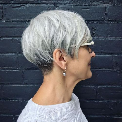 Gray Pixie for Fine Straight Hair