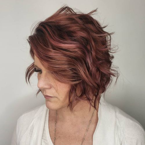 Beautiful Short Curly Messy Bob