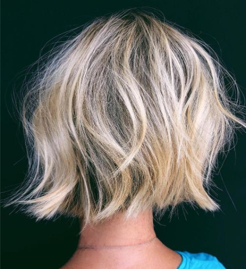 Shaggy Wavy Bob for Fine Hair