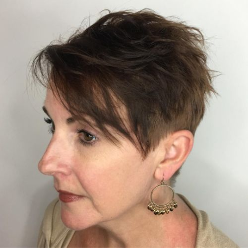 Chic Messy Pixie with Undercut