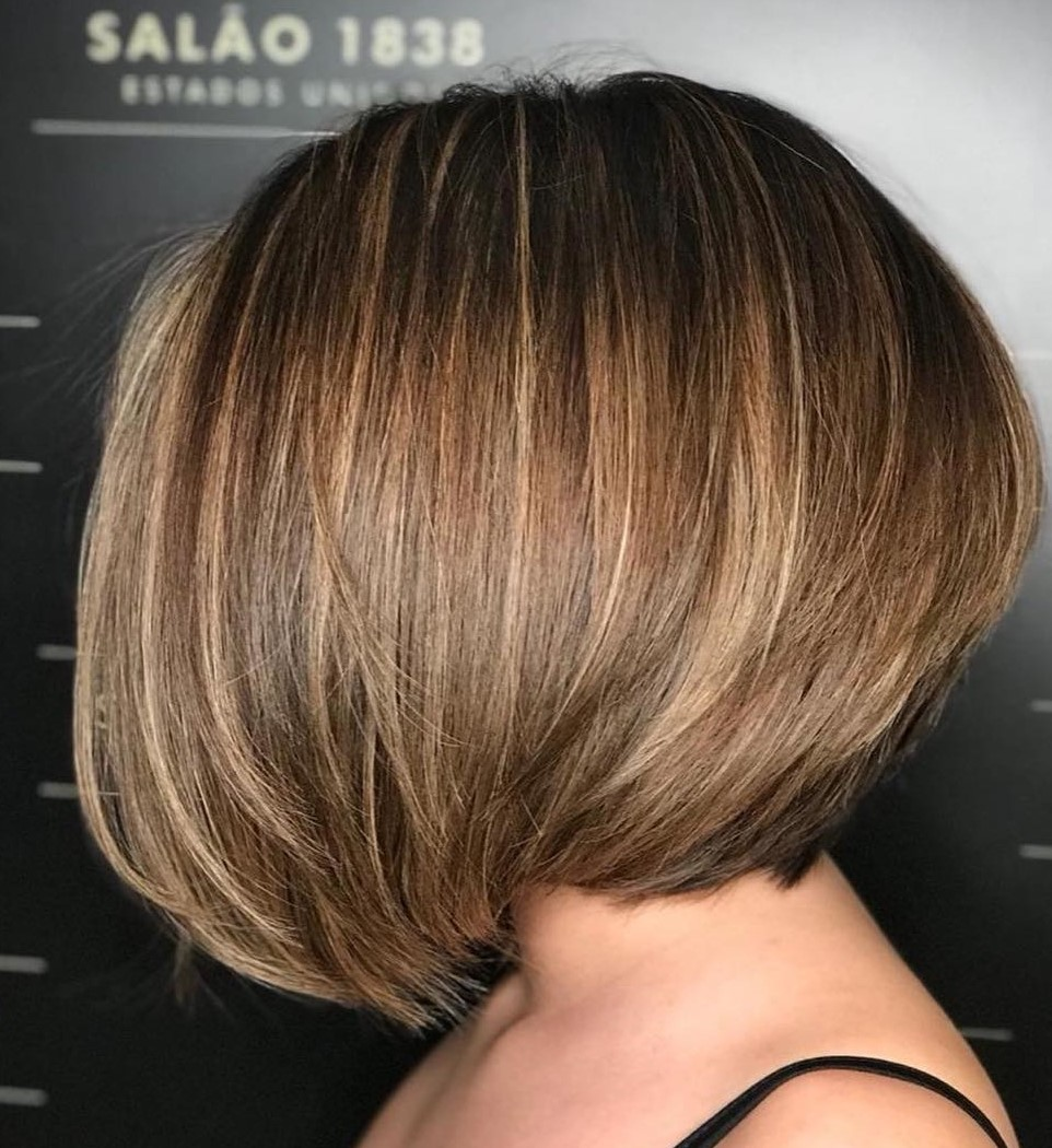 Long Stacked Bob for Thick Hair