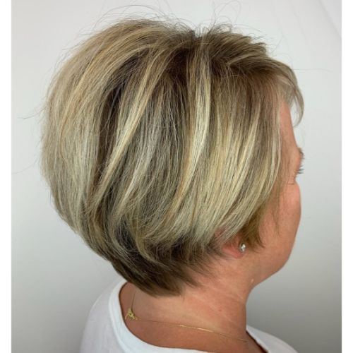 Long Pixie with Blonde Highlights