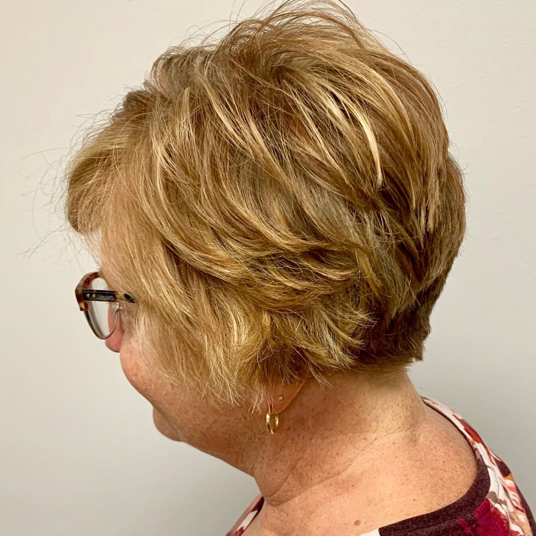 Over 60 Choppy Pixie for Thick Hair