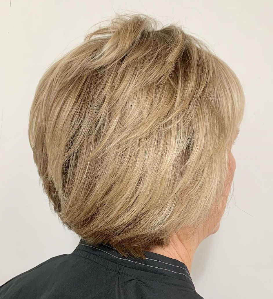 Golden Blonde Pixie Bob with Layers