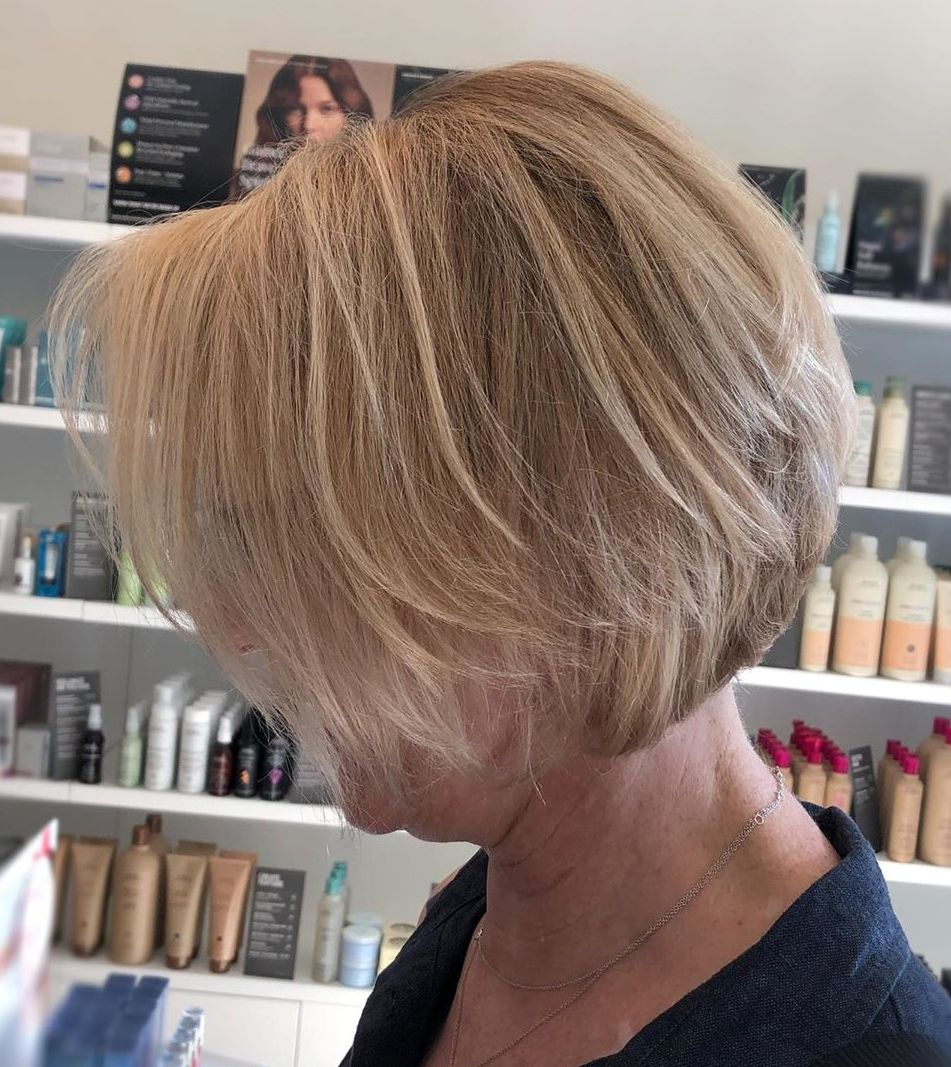 Classy Bronde Bob with Layers