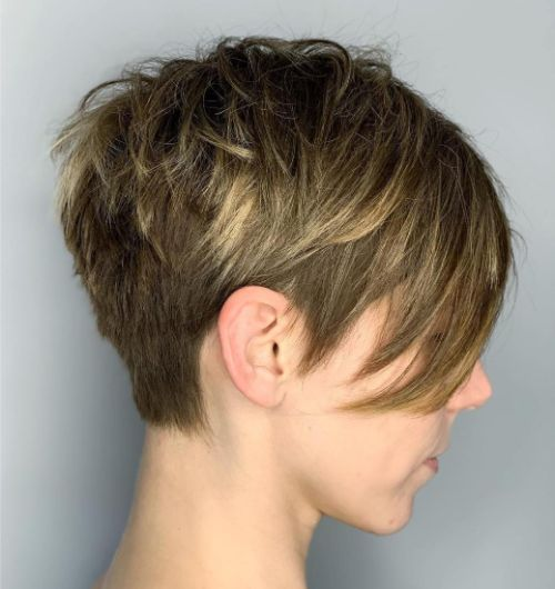 Straight Spiky Pixie Cut