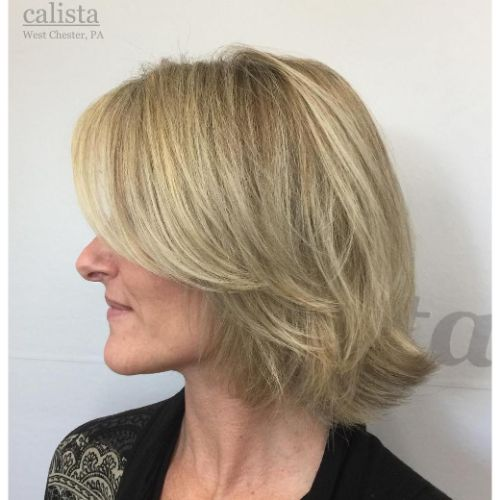 Blonde Bob with Feathered Layers