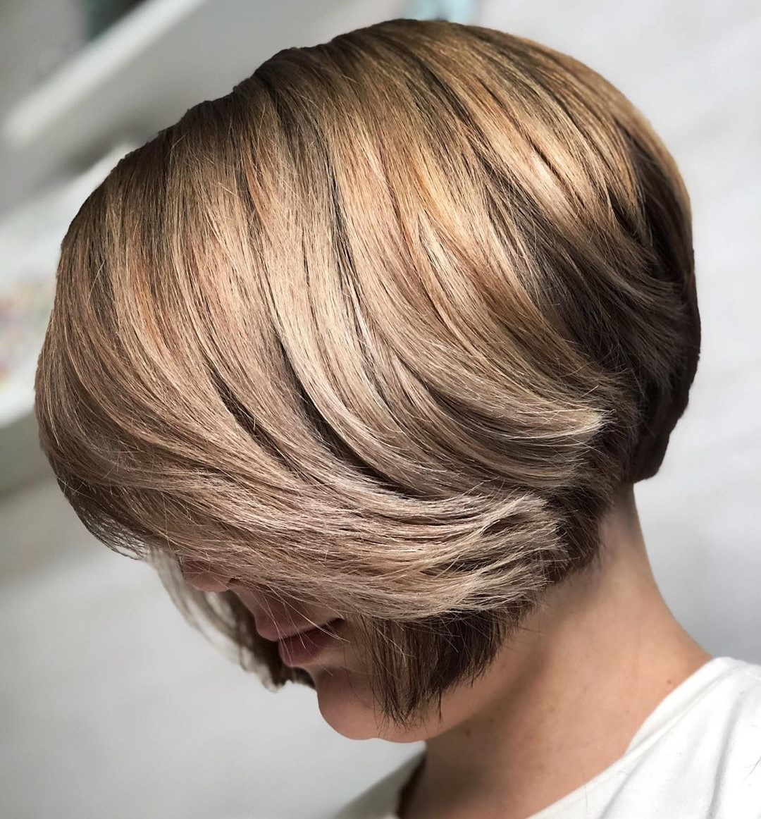 Classy Bronde Bob for Thick Hair