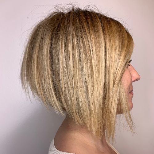 Angled Bob for Straight Hair