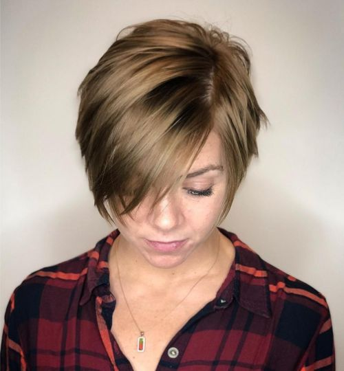 Pixie Bob for Fine Hair and Round Faces