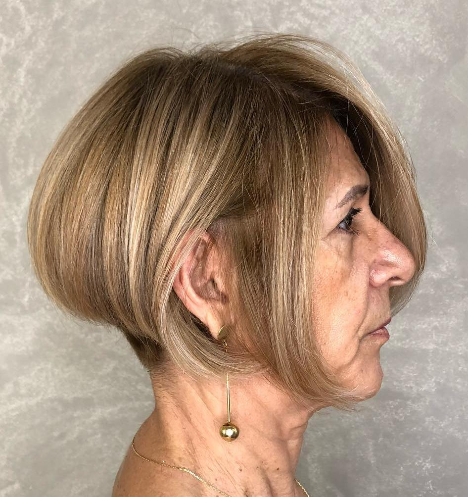 Stacked Bob Over 60