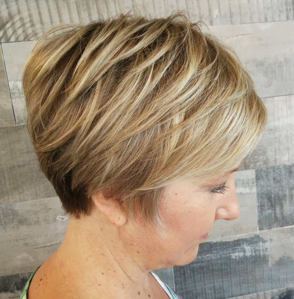 Long Golden Bronde Pixie