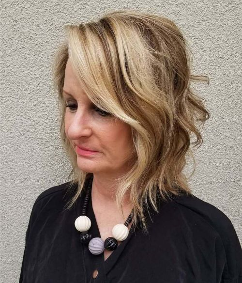 Beautiful Tousled Shoulder-Length Bob