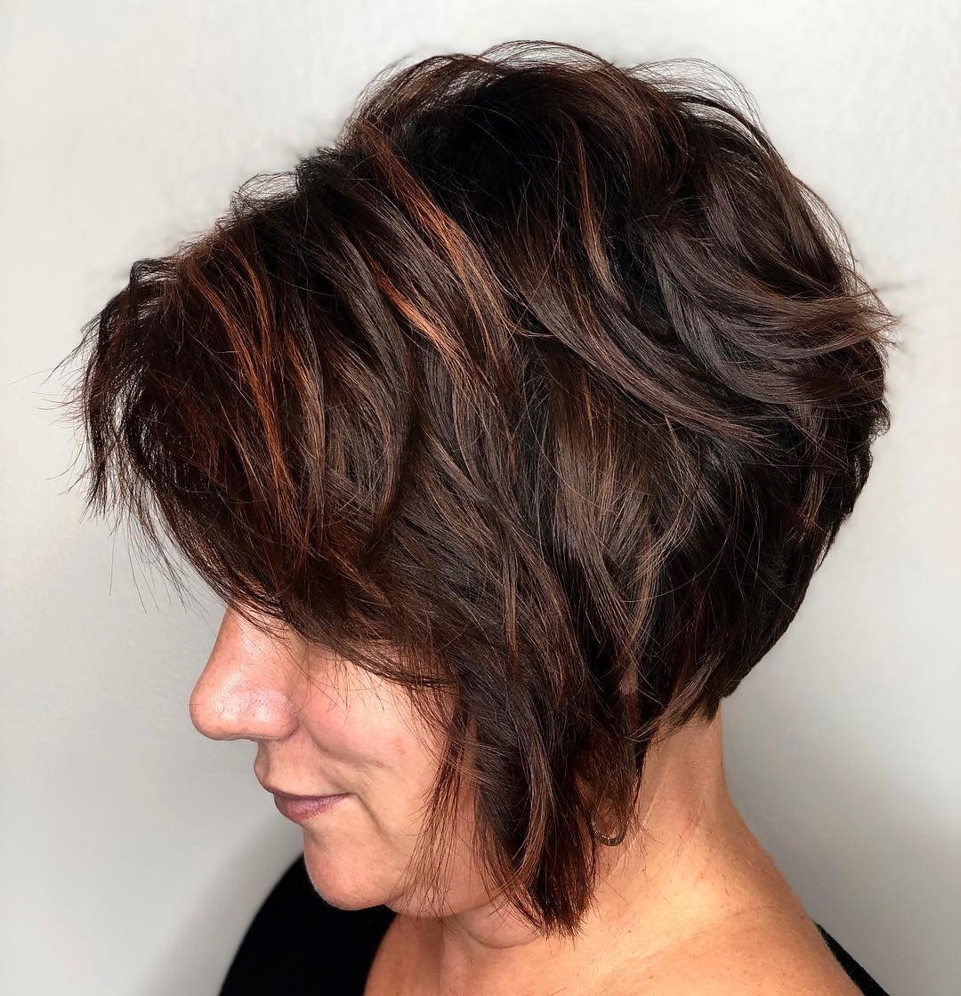 Brunette Pixie Bob for Ladies Over 50