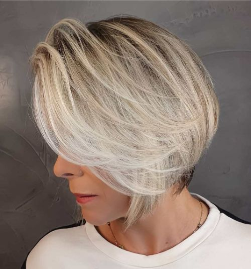 Sassy Bob for Fine Hair Over 60