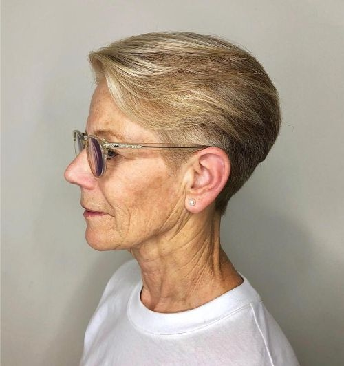 Short Tapered Pixie with Glasses