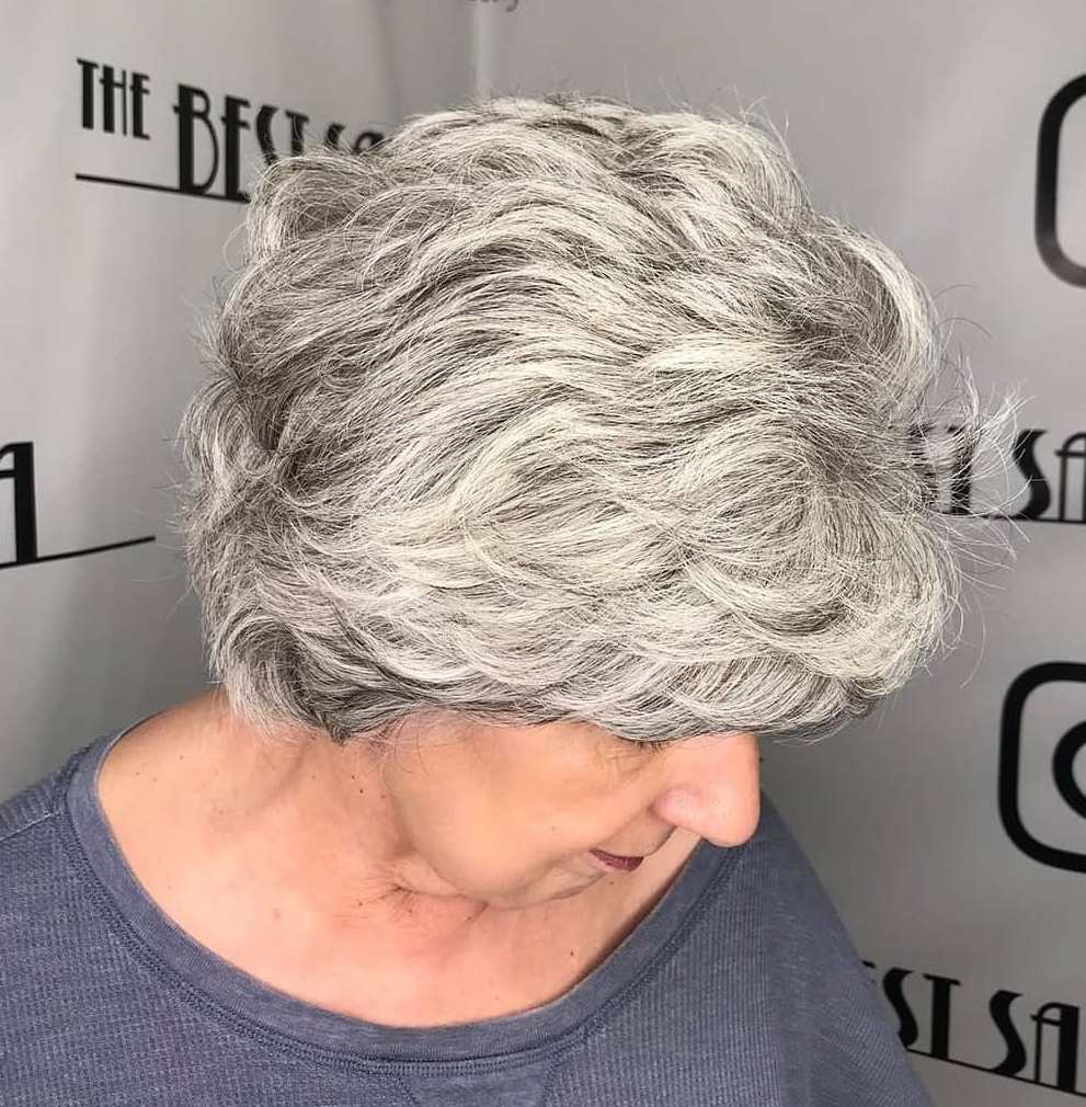 Short Layered Hairstyle for Thick Wavy Hair