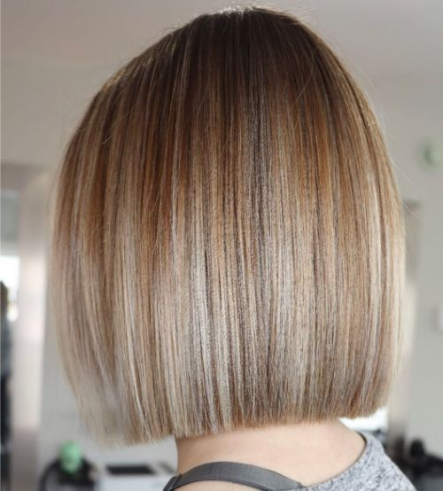 Straight Blunt Bob for Fine Hair