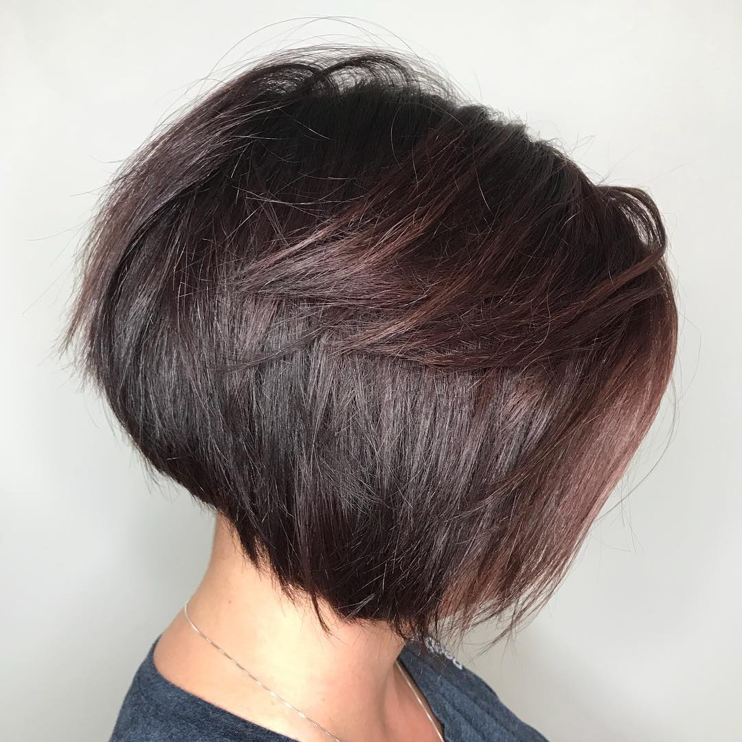 Feathered Bob for Thick Straight Hair