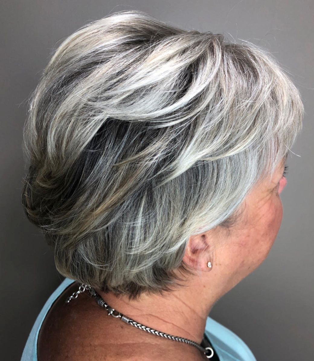 Gray Feathered Pixie Over 60
