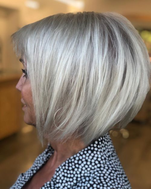 Straight Bob for Women Aged 40 and Older