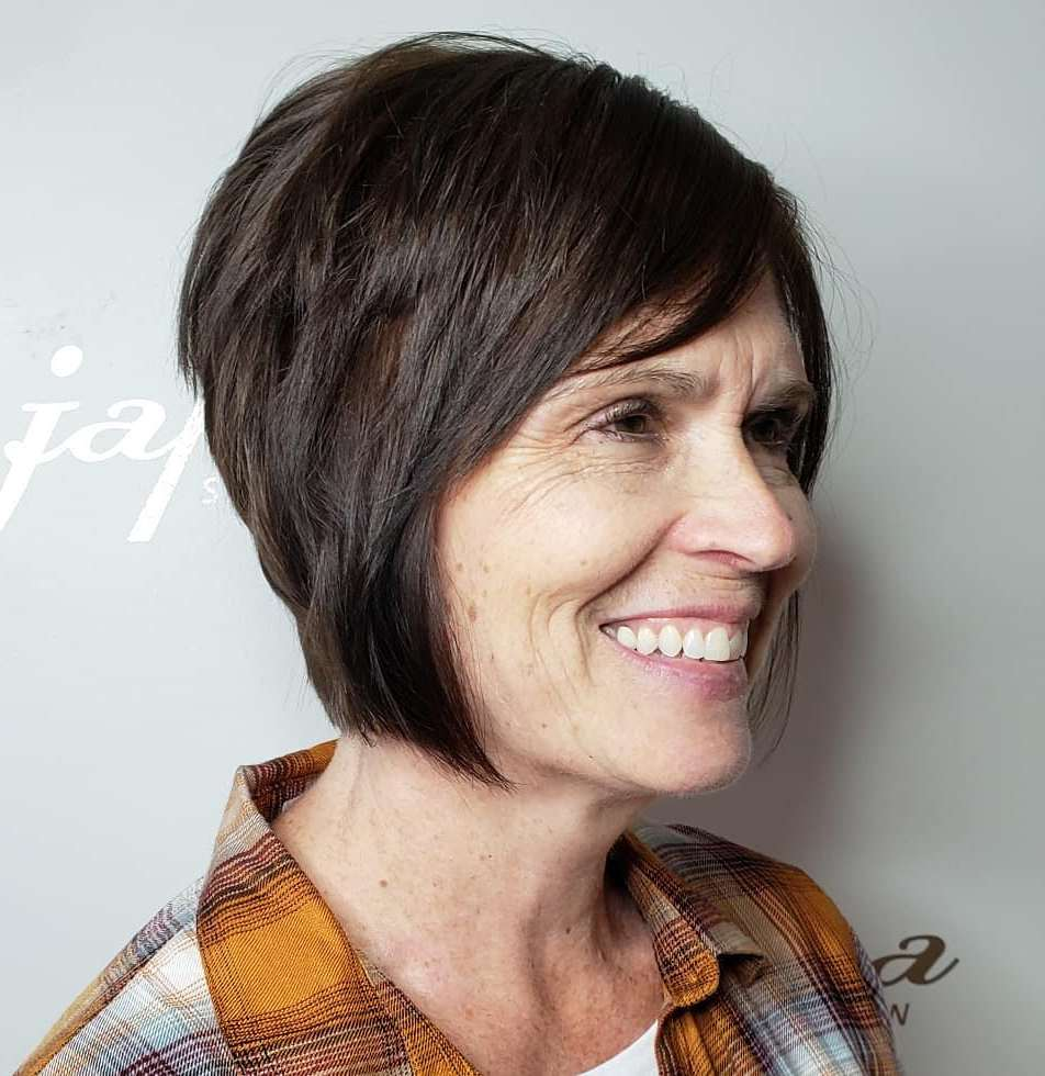 Short Bob Hairstyle for Over 50