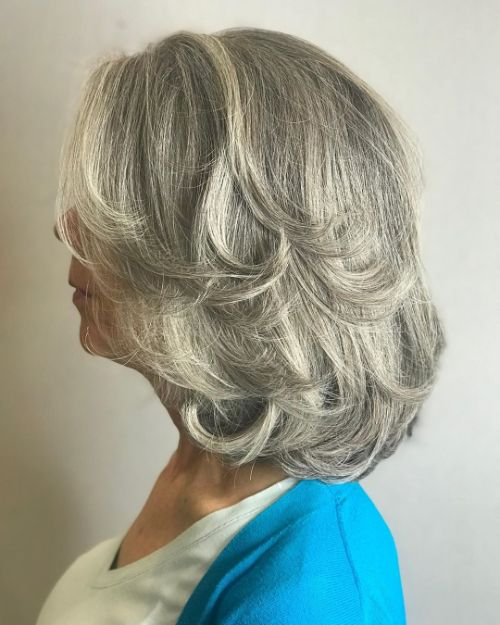 Medium Gray Style for Women in Their 60s