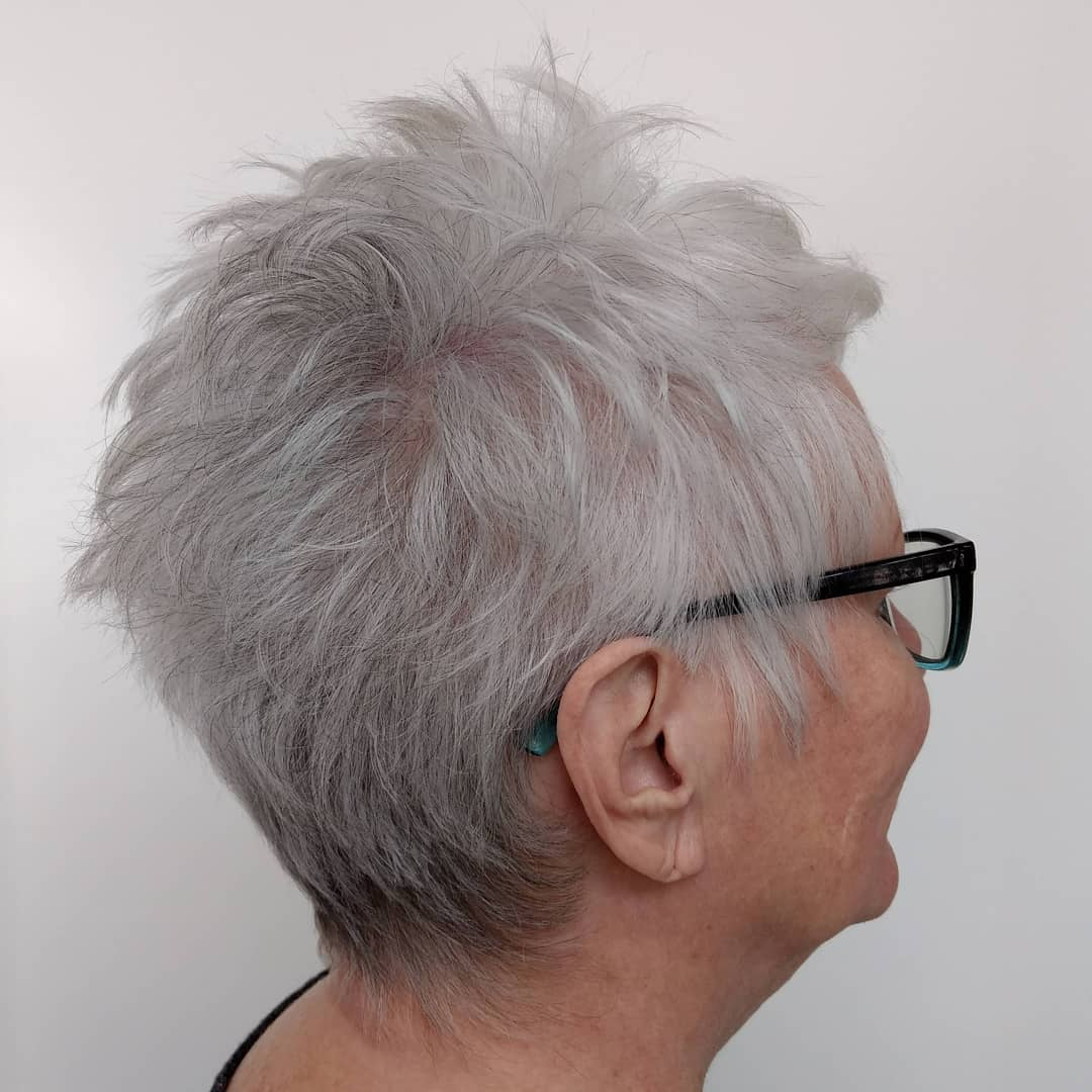 Gray Pixie for Women with Fine Thin Hair