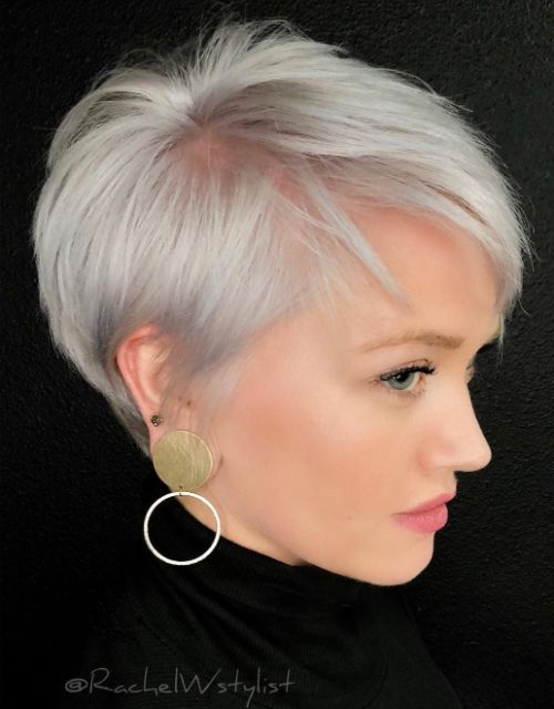 Silver Pixie for Fine Thin Hair
