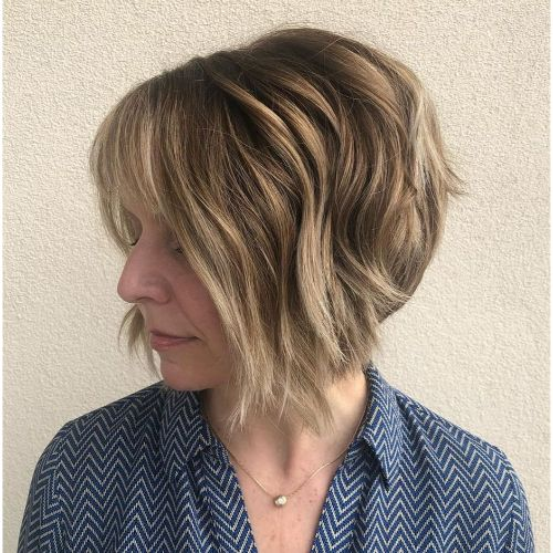 Modern Bob for Women Over 40 with Thick Hair