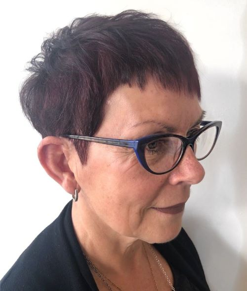 Modern Tapered Pixie with Bangs