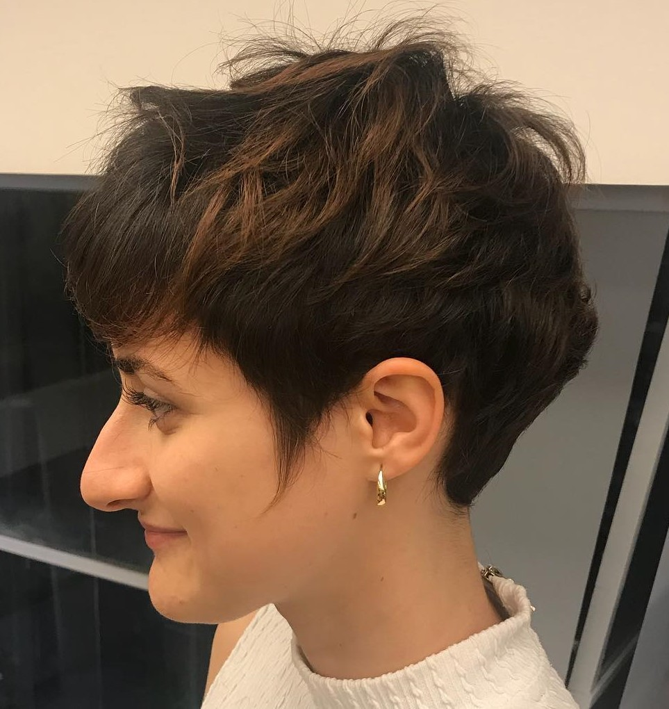 Pixie with Short Bangs and Sideburns