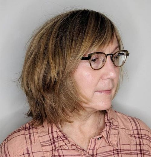 Shaggy Bob for Women with Glasses